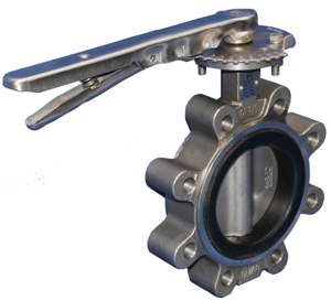 STAINLESS STEEL LUGGED EPDM LEVER TABLE E BUTTERFLY VALVE