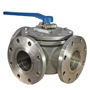 3WAY L PORT 316SS BALL VALVE CLASS 150 LEVER OP