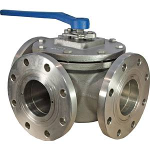 3WAY T PORT 316SS  BALL VALVE CLASS 150 LEVER OP