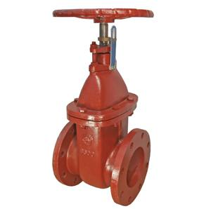CAST IRON NON-RISING STEM WEDGED GATE VALVE FLANGED TABLE E