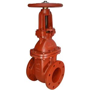 CAST IRON RISING STEM WEDGED GATE VALVE FLANGED TABLE E