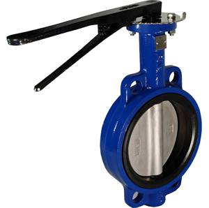 CAST IRON WAFER EPDM LEVER TABLE D/E & ANSI 150 BUTTERFLY VALVE