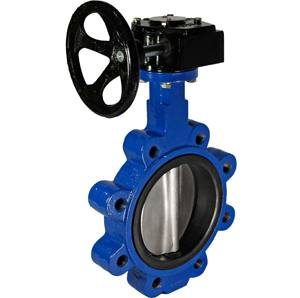 CAST IRON LUGGED EPDM GEAR TABLE E BUTTERFLY VALVE
