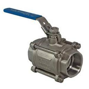 3-PCE BALL VALVE FB BSP ENDS LOCKABLE LEVER